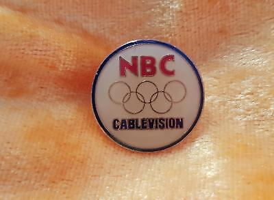 2 Olympic Games Nbc Cablevision Pins - Probably Seoul Korea 1988 Pins