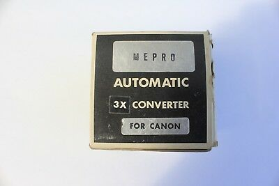 Vintage Mepro automatic 3x converter for Canon