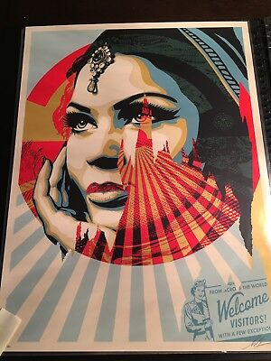 Target Exceptions by Shepard Fairey Signed & Numbered Obey Giant Screen Print