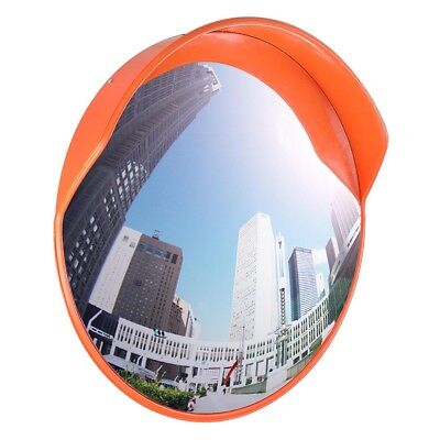 "24"" Wide Angle Convex PC Mirror Wall Mount Corner Road Store Security Blind Spot"