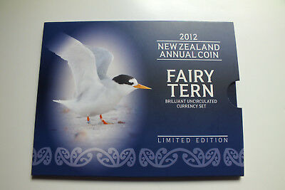 New Zealand 2012 Unc Coin Set.