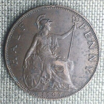 Great Britain 1/2 Penny, 1907 - 1203