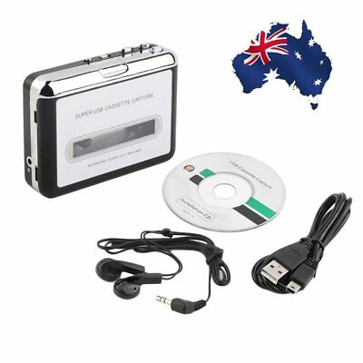 Tape to PC USB Cassette & MP3 CD Converter Capture Digital Audio Music Player F