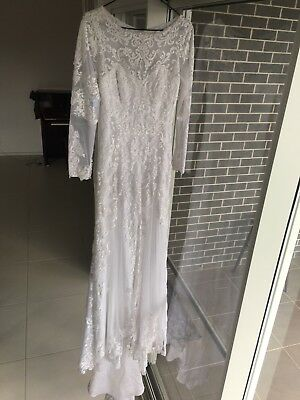 Hot NEW White/Ivory Lace Wedding dress Bridal Gown stock size: 10