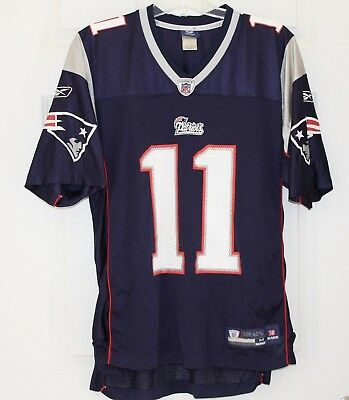 Mens REEBOK On Field New England Patriots Julian Edelman  11 NFL Jersey ~  Medium a37aa73a7