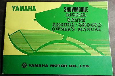 Very Rare Vintage 1973 Yamaha Racing Sr292, Sr433C, & Sr643B Owners Manual