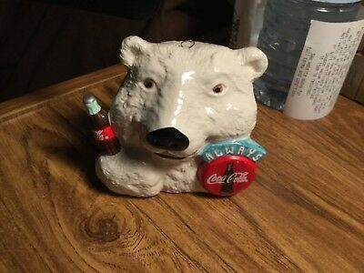 Coca Cola- 1997 - ceramic Always Coca Cola- Bear - Ornament- Some Wear See Pics