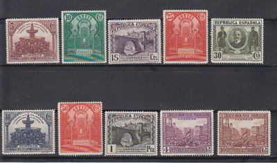 Spain (1931) Mlh New With Stamp Hinges - Edifil 604/13 - Series Full