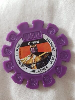woolworths MARVEL HEROES SUPER DISK Thanos #30 safeway RARE authentic