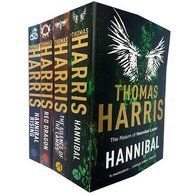 Hannibal Lecter Collection 4 Books Set By Thomas Harris Red Dragon Hannibal NEW