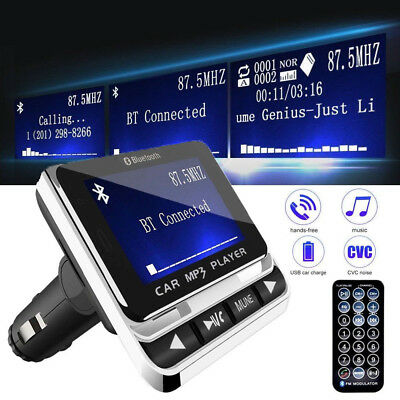 Wireless Bluetooth FM Transmitter Car Kit MP3 Player USB Charger+ Remote AU SHIP