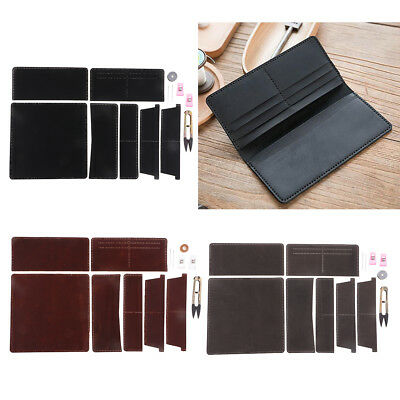 DIY Leather Long Wallet Purse Making Kit for Adult Beginners Sewing Material