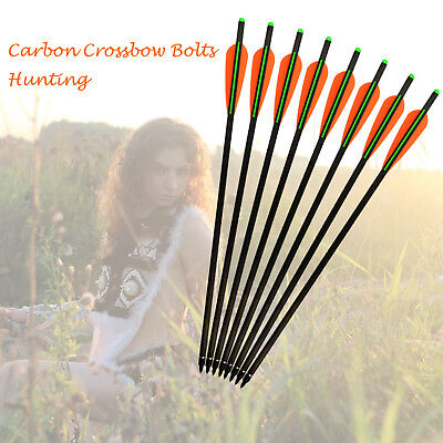 """Carbon Arrows Crossbow Bolts Archery Outdoor Target Hunting 16""""/18""""/20""""/22"""""""