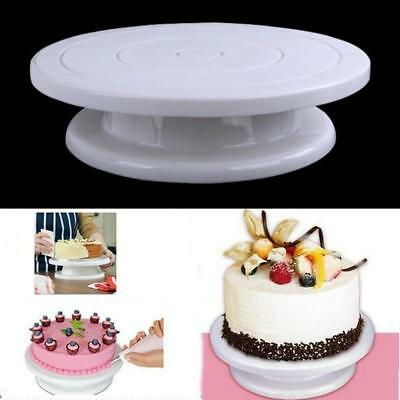 Rotating Plate Decorate Cake Turntable Display Stand Baking Tool 27cm