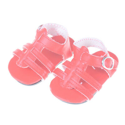 Doll Shoes  Doll Shoes Red Summer Sandals 18 Inch Doll Accessory T9