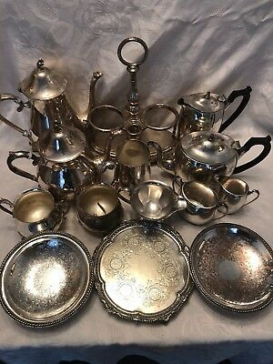 Large Job Lot Of Vintage Silver Plate 6+ Kg