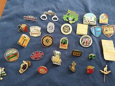 Pins Badges Job Lot .Alcatraz.  Universal monsters ect