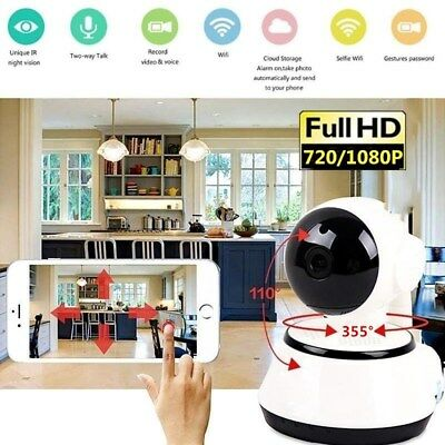 FIT For Wireless 720P v380 Smart WiFi Security Camera Home IR Cam Night Vision