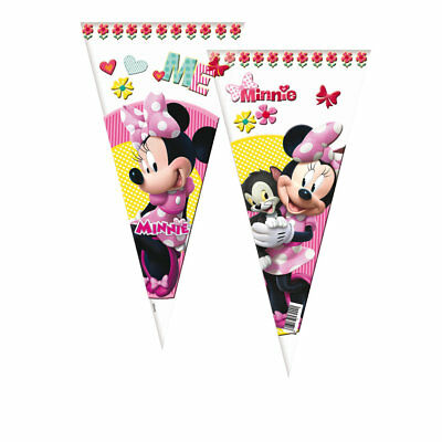 Pack 12 conos 20x40 cms Minnie pink