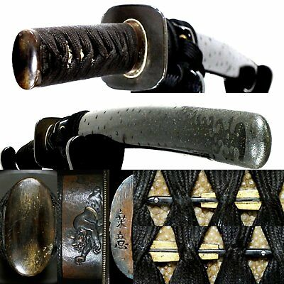 605 Japanese Samurai Edo Antique Beautiful wakizashi sword koshirae with Kozuka