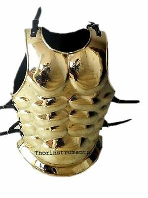 Shine Brass Finish Medieval Roman Muscle Armour Costume Armour Jacket Halloween