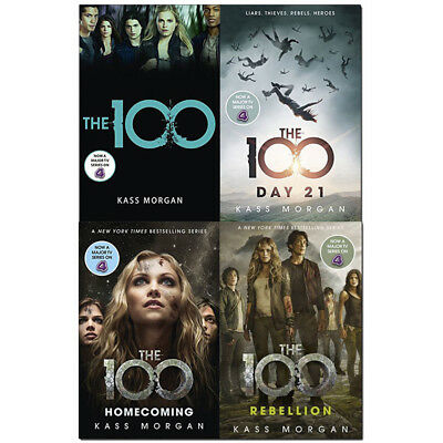 The 100 Series 4 Books Collection Set By Kass Morgan Rebellion Paperback NEW