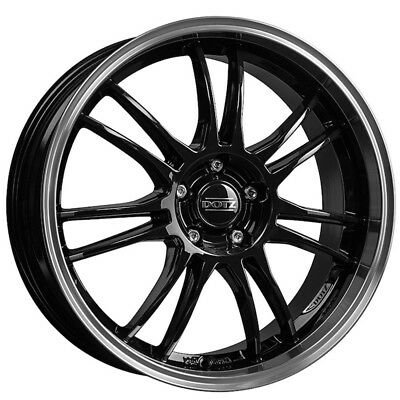 18 Inch Dotz Shift 4x100 Et35 8j Black Alloy Wheels Dacia Logan