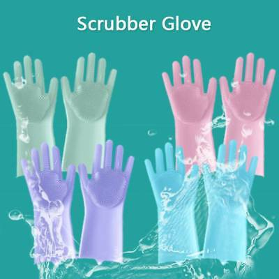 Heat Insulated Multipurpose Magic Silicone Creative Home Cleaning Gloves Kitchen