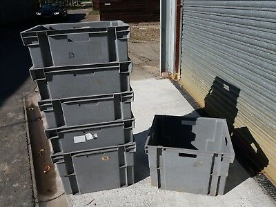 Plastic Storage Crates, Nesting, Stacking