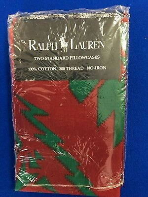 Ralph Lauren Pair Of Standard Brushed Cotton Pillowcases