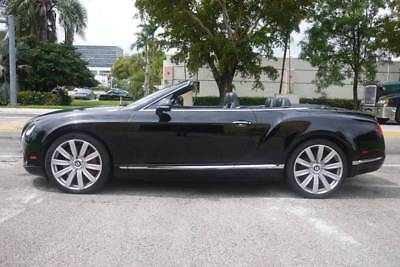 2012 Continental GT AWD 2dr Convertible 2012 Bentley Continental GTC Triple Black, Wood package