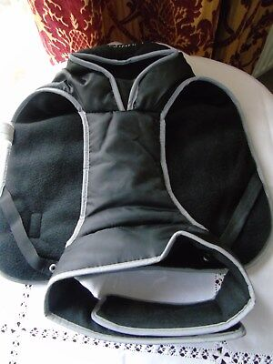 DOG COAT ~ MUDDY PAWS BY ANCOL ~ Fleece Lined ~ Black ~ Small
