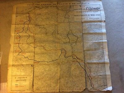 WW1 French Large Western Front Map 1917