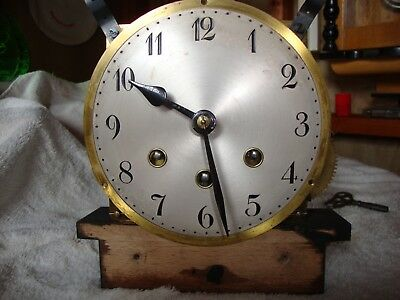 1920s BADISCHE UHRENFABRIK of FURTWANGEN MANTLE CLOCK MOVEMENT for SPARES OR RE.