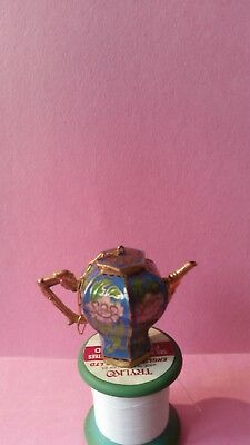 Lovely Quality Chinese Cloisonne Enamel Miniature Teapot