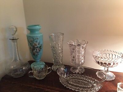 Antique Glassware Late 19th/Early 20th Century - eight items