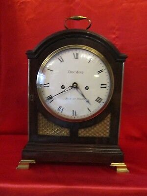 George the third classic mahogany pad top bracket clock
