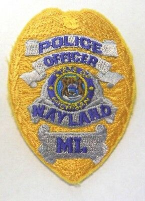 Wayland Michigan Police Vest Hat Patch Unused