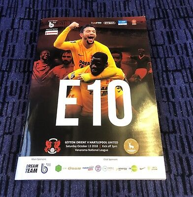 Leyton Orient v Hartlepool United Vanarama National League 13/10/2018.