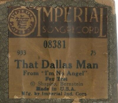 That Dallas Man (Harvey Brooks) Imperial 08381 Piano Roll Original