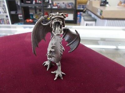 Ray Lamb Pewter Dragon 1982 movable wings