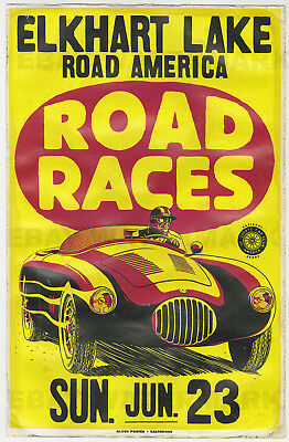 1950's OSCA MT4 Race Vintage Advertising Poster 11 x 17 Road America Wisconsin