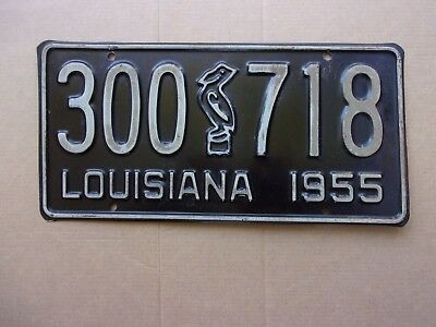 1955 LOUISIANA Pelican License Plate