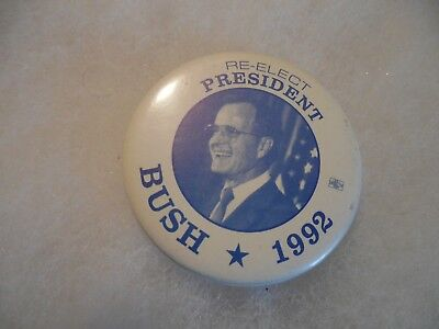 Presidential Pin Back George Bush Campaign Button President 1992 Candidate