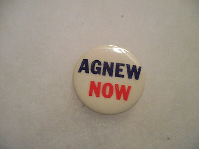 Presidential Pin Back Campaign Button President Spiro Agnew Now VP 1968 Badge