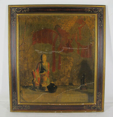 """Antique Hovsep Pushman """"The Prince & His Horse"""" Asian Inspired Lithograph NR yqz"""