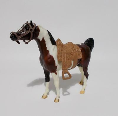 """Breyer Molding Co Horse Brown White With Saddle 6"""" Tall"""