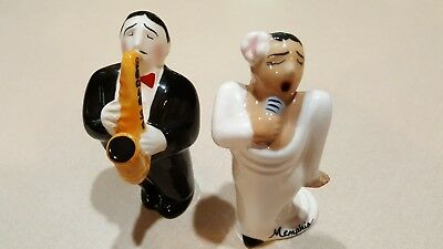 Beale Street Memphis TN Singer and Sax Player Salt and Pepper Shakers JAZZ MUSIC