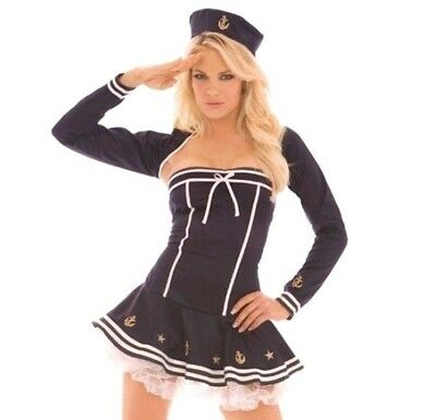 Ahoy There Hottie Navy Sailor Costume Leg Avenue 83482 2 Piece Size S//M M//L XL