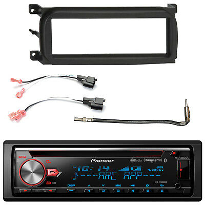 Single-DIN CD Bluetooth Car Stereo, Dash Kit, Speaker Connector, Antenna Adapter